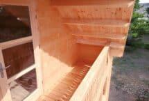 sous bois 62m², maison bois, chalet, balcon