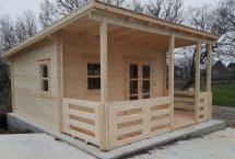 Abri cotier - Monopente - bureau d'accueil - 19m²