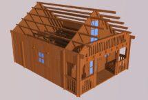 sous bois 85m², chalet, maison, l'européenne de chalets