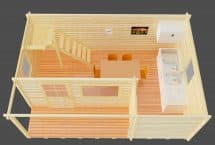 ITALIE - 48m2 mezzanine chalet monopente