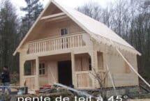 sous bois, pente à 45°, maison, chalet, l'Européenne de chalets