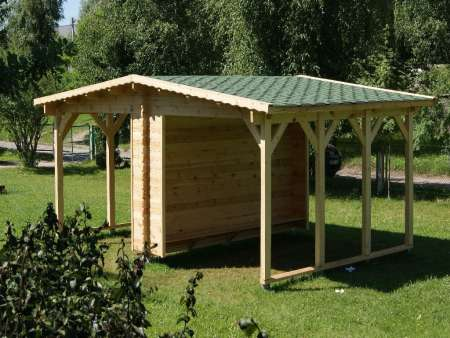 mobilier urbain, équipement, abri, bois