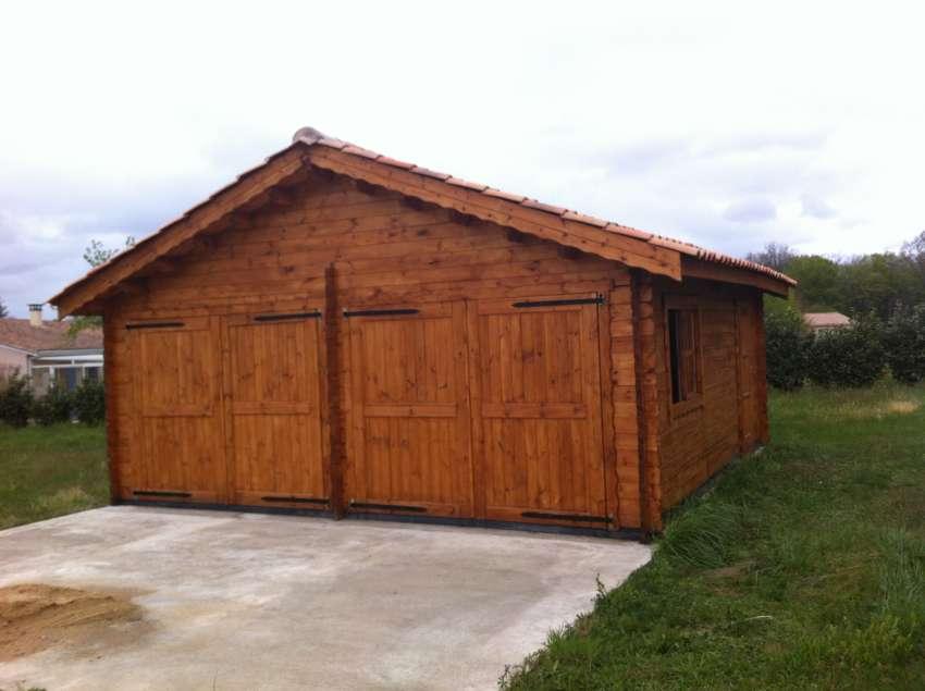 garage double vehicule, bois kit