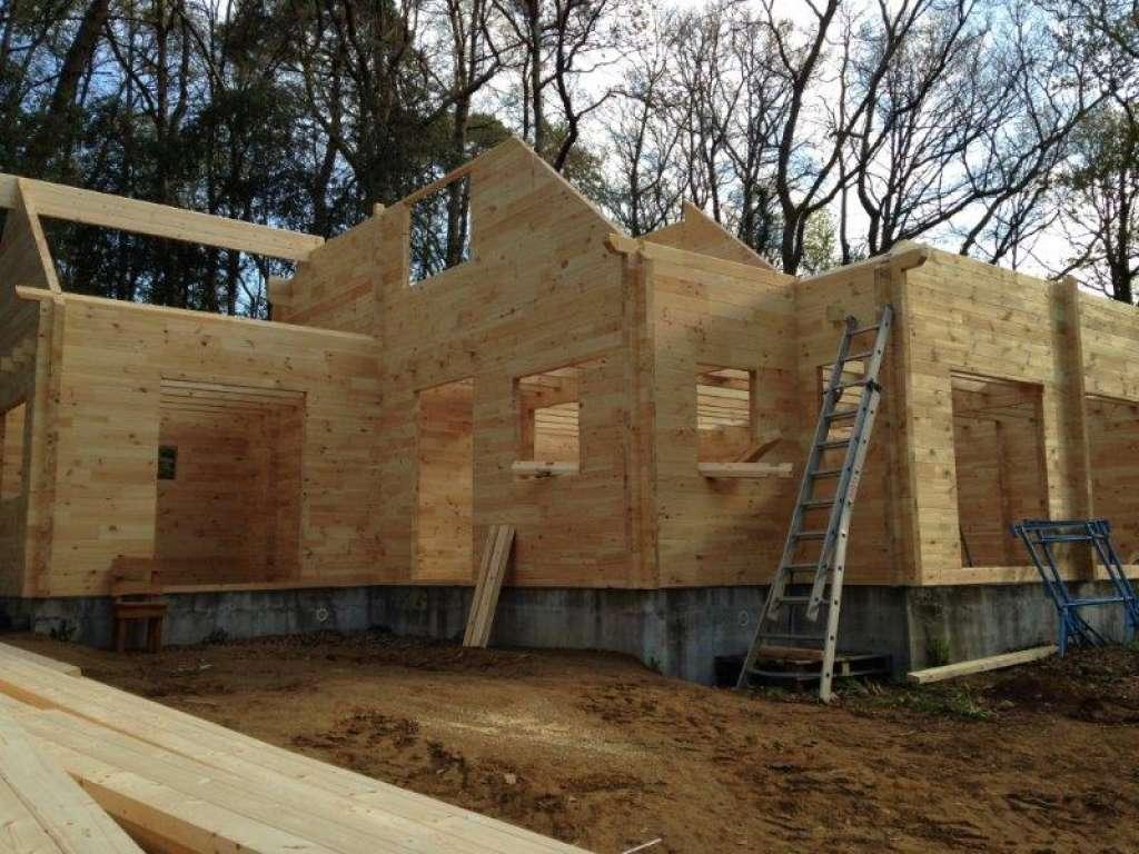 Bretagne, maison, sur mesure, bois, l'européenne de chalets