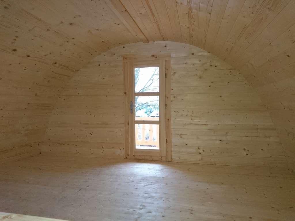 DOME 40m² mezaznine bois toit arrondie