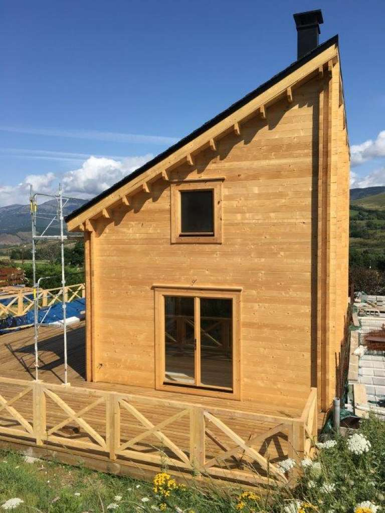 Pyrénées, maison, sur mesure, l'européenne de chalets